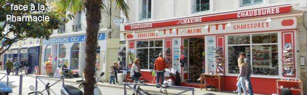 de35d10270b670 Belle-Ile-en-Mer, Chez Maxime, votre chausseur toutes marques à ...